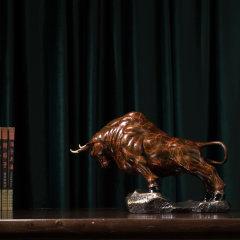 ZBR/朱炳仁铜 精铜  大展宏图 非遗家居铜雕牛摆件工艺品图片