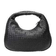 Bottega Veneta/葆蝶家 女士黑色羊皮编织款拉链开合手提包腋下包女包 367637-V0016-8175图片