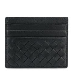 Bottega Veneta/葆蝶家 男女同款中性纯色羊皮编织款7卡位钱包卡夹卡包 162150-001N 多色可选图片