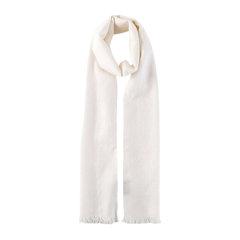 GUCCI/古驰 中性男女款双G印花羊毛混纺流苏围巾 165904 3G646图片
