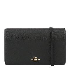 COACH/蔻驰 女士黑色金属字母徽标斜挎包单肩包手拿包信封包钱包卡包女包 F3037IMBLK图片