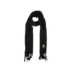 【清仓】【国内现货】MOSCHINO/莫斯奇诺 女士时尚流苏小泰迪熊刺绣围巾图片