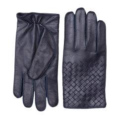 Bottega Veneta/葆蝶家 女士纯色小羊皮手背编织装饰手套 356650-V5100 多色可选图片