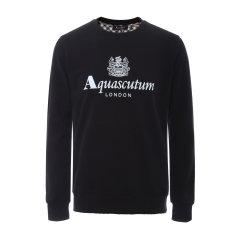 【大陆现货秒发】 Aquascutum/雅格狮丹  纯棉圆领套头男士卫衣 上装 男装 男卫衣图片