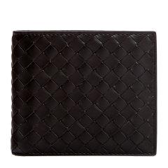 Bottega Veneta/葆蝶家 男女同款中性纯色牛皮编织短款双折卡夹卡包钱包 113993-V4651 多色可选图片
