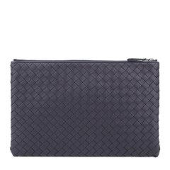 Bottega Veneta/葆蝶家 男士纯色羊皮编织款拉链开合钱包手包手拿包男包 256400-V001O 多色可选图片