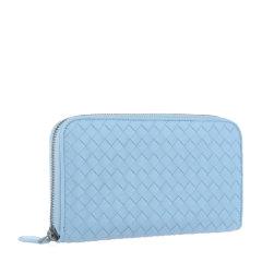 Bottega Veneta/葆蝶家 男女同款中性纯色羊皮经典编织全拉链开合长款钱包手包手拿包114076-V001N 多色可选图片