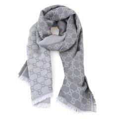 【包税】Gucci/古驰  男士女士通用流苏双G印花羊毛围巾133483图片