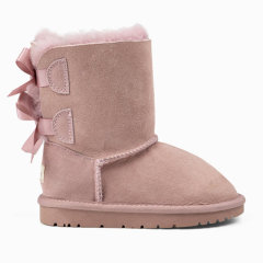 Ozwear/Ozwear 冬季新款儿童经典款双蝴蝶结中筒防泼水雪地靴 OZW111图片