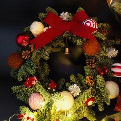 【新年礼物】  FlowerFour/FlowerFour 圣诞花环挂饰 圣诞节装饰品 场景布置(只发北京地区)新疆西藏等偏远地区物流停发图片