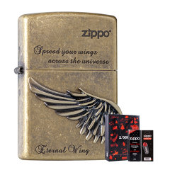 zippo打火机旗舰店 正品zippo火机 徽章 展翅高飞 生日礼物 送朋友图片