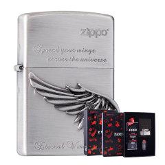 zippo打火机旗舰店 正品zippo火机 徽章 展翅高飞  礼盒套装 生日礼物 送朋友图片