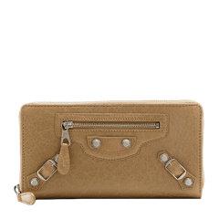 Balenciaga/巴黎世家 女士纯色羊皮全拉链式银五金长款钱夹钱包手拿包女包 253053-D940N 多色可选图片
