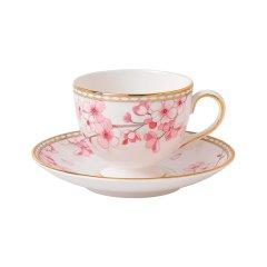 Wedgwood/玮致活樱花春蕾杯碟骨瓷咖啡茶杯茶碟欧式礼盒40005575 /40005585图片