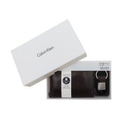 包税CalvinKlein男包皮质礼盒装短款钱包79220图片