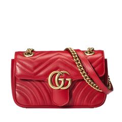 GUCCI/古驰 GG Marmont系列绗缝迷你手袋 皮质 单肩包 446744 DTDIT图片