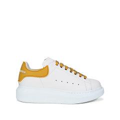 【现货秒发】2021春夏 Alexander McQueen/亚历山大麦昆 女士牛皮/橡胶系带阔型运动鞋休闲鞋 621056 WHXMT图片