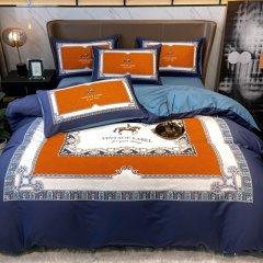 花花公子40支轻奢风全棉AB版大版画四件套被套床单图片