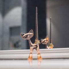 德国进口宠物首饰收纳架    利快koziol钥匙架眼镜架   居室摆件工艺品憨狗萌猫图片
