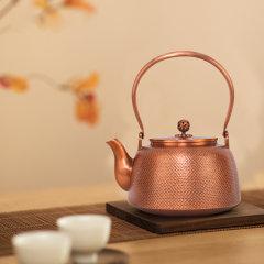 中艺盛嘉 中藝堂收藏品 孟德仁 素肌紫铜壶  煮茶壶送客户老人父母礼品图片