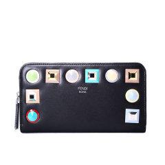 FENDI/芬迪 钱夹 方块装饰光面皮8M0299 牛皮革图片