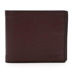 【国内现货】COACH/蔻驰奢侈品男士专柜款皮革皮质短款钱包带可拆卸卡包深蓝色图片