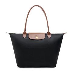 【包税】Longchamp/珑骧 Le Pliage系列女士纯色尼龙大号长柄可折叠手提包单肩包手提包女包 1899089 多色可选图片