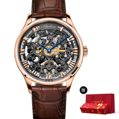 【赠精美新年礼盒】AGELOCER/艾戈勒手表 博世系列男士手表 男士机械表全自动男表 镂空雕花图片