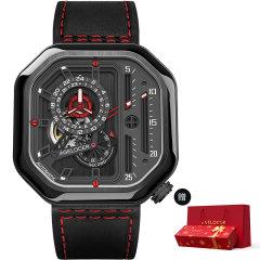 【赠精美新年礼盒】AGELOCER/艾戈勒 手表男 新款大爆炸 男表 男士机械表全自动 手表 镂空方形男表大表盘潮表图片