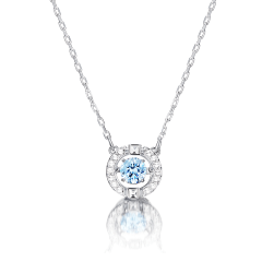 Swarovski/施华洛世奇项链 跳动的心项链 时尚女士水晶项链 银色 Sparkling Necklace 锁骨链 5286137图片