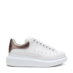 【现货秒发】AlexanderMcQueen/亚历山大麦昆 女士牛皮系带阔型运动鞋休闲鞋小白鞋 553770 WHFBU图片