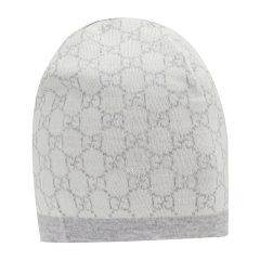 【21春夏新款】GUCCI/古驰 儿童羊毛GG图案针织套头帽 418609 4K206 BCDX图片