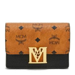 【21春夏新款】MCM/MCM 女士Mena Visetos系列拼牛皮风琴式卡包 MYSAALM03 DX图片