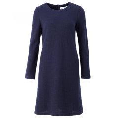 YAWANG CHEN/YAWANG CHEN女装>女士裙装>女士连衣裙新品羊毛及膝连衣裙图片
