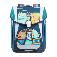 Materns/Materns 小学生书包男女卡通减负护脊双肩儿童书包9-12周岁大童系列 帆布图片