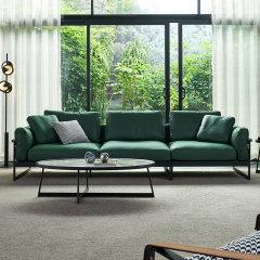 真纳帕皮三人位皮艺沙发 三人位组合现代简约单人位双人位三人位两人位一人沙发 北欧皮质客厅沙发家具软垫靠背 LAPICIDA图片