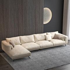 3.06m组合科技布布艺沙发 双人位配贵妃位组合现代简约双人位三人贵妃椅沙发 北欧客厅沙发家具软垫靠背 STEINHAFELS图片