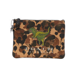 COACH/蔻驰  手拿包 迷彩设计恐龙图案 男士手包零钱包收纳包图片