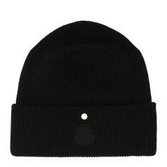 Moncler/蒙克莱 男女同款中性纯色羊毛徽标贴饰毛线帽豆豆帽无檐帽帽子 9Z70200-A9390 多色可选图片
