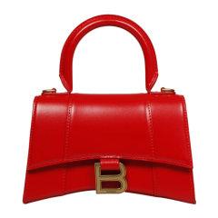 【包税】Balenciaga/巴黎世家 女士小牛皮金属字母徽标可拆卸肩带翻盖迷你手提包单肩包斜挎包女包 592833-1QJ4M图片