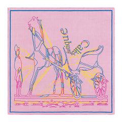 【包税】HERMES/爱马仕 女士拼色真丝卷边平纹Caleche Elastique Finesse印花丝巾方巾头巾围巾 H303559S04图片
