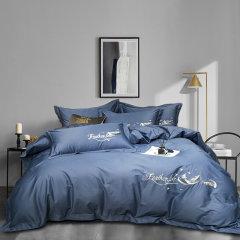 优质面料,干爽透气,不易掉色,耐洗耐用 Elegance/雅莉格丝 飞羽典雅白 精致全棉床品四件套 EHT182图片