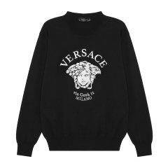 【21春夏】SS21 VERSACE/范思哲 男士美杜莎刺绣羊毛混纺套头衫 男士针织衫/毛衣【官方授权】图片