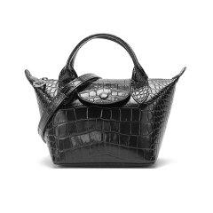 【国内现货】Longchamp/珑骧 2021款 女士LE PLIAGE CUIR系列迷你款牛皮手提单肩斜挎包饺子包 1500 HVC图片