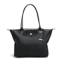 Longchamp/珑骧 LE PLIAGE CLUB系列女士纯色织物奔马徽标刺绣长柄可折叠按扣拉链开合小号单肩包手提包托特包女包 2605619 多色可选图片