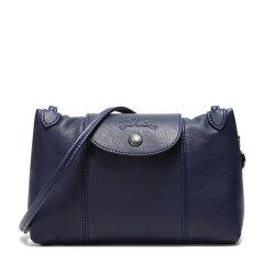 Longchamp/珑骧 LE PLIAGE CUIR系列女士纯色皮质拉链开合小号单肩包斜挎包邮差包女包 1061757 多色可选图片