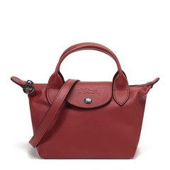 Longchamp/珑骧 LE PLIAGE CUIR系列女士纯色羊皮短柄迷你款单肩包斜挎包手提包饺子包女包 1500757 多色可选图片