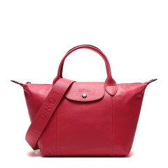 Longchamp/珑骧 LE PLIAGE CUIR系列女士纯色小羊皮短柄可折叠单肩包斜挎包手提包饺子包女包 1512757 多色可选图片