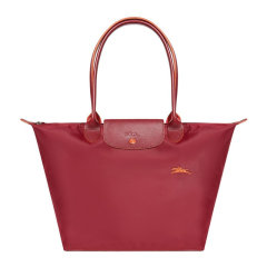Longchamp/珑骧 LE PLIAGE系列 女士帆布刺绣徽标长柄可折叠单肩包饺子包手提包托特包女包 1899619多色可选图片