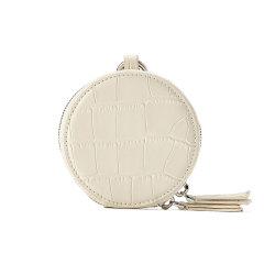 Emini House/伊米妮2021新款包包时尚彩色鳄鱼纹牛皮零钱包趣味圆形挂件包包图片